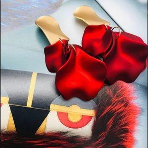 Red Petals Earrings,NWT